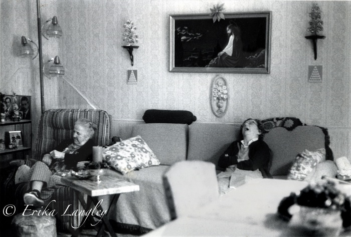 Annie and Vera asleep, 1989